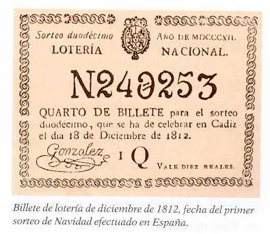 1º BILLETE DE LA LOTERIA DE NAVIDAD